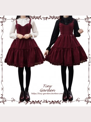 Garden Dance Classic Lolita Dress Winter Velvet JSK by Tiny Garden (TG14)